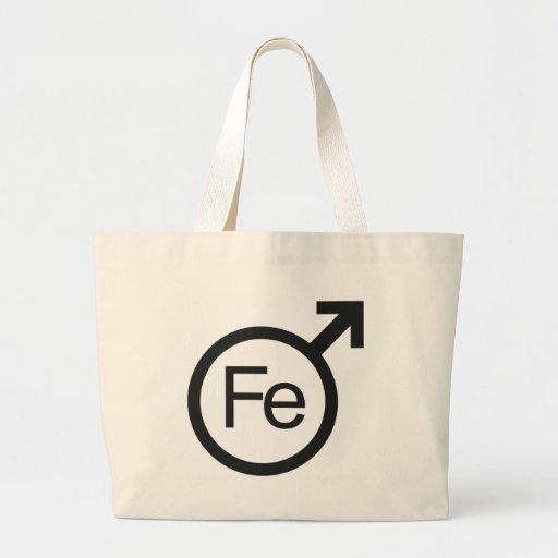 Iron Man Male gender symbol Fe design Jumbo Tote Bag