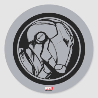 Iron Man Profile Logo Classic Round Sticker