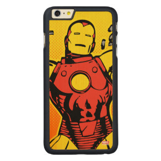 Iron Man Retro Breaking Chains Carved® Maple iPhone 6 Plus Case