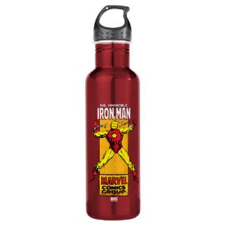 Iron Man Retro Breaking Chains Comic 710 Ml Water Bottle
