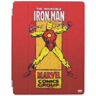 Iron Man Retro Breaking Chains Comic iPad Cover