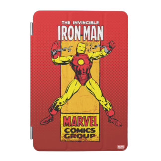 Iron Man Retro Breaking Chains Comic iPad Mini Cover