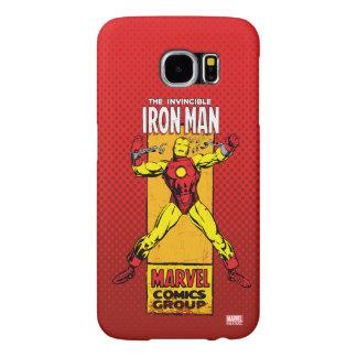 Iron Man Retro Breaking Chains Comic Samsung Galaxy S6 Cases