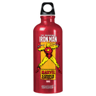 Iron Man Retro Breaking Chains Comic Water Bottle