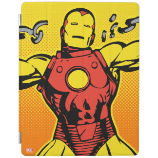 Iron Man Retro Breaking Chains iPad Cover