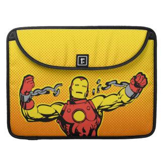 Iron Man Retro Breaking Chains Sleeve For MacBooks