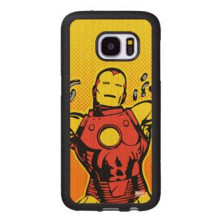 Iron Man Retro Breaking Chains Wood Samsung Galaxy S7 Case