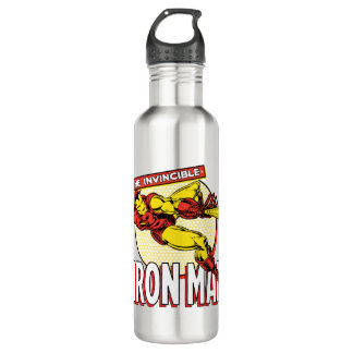 Iron Man Retro Character Graphic 710 Ml Water Bottle