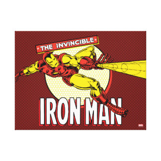 Iron Man Retro Character Graphic Canvas Print