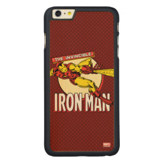 Iron Man Retro Character Graphic Carved® Maple iPhone 6 Plus Case