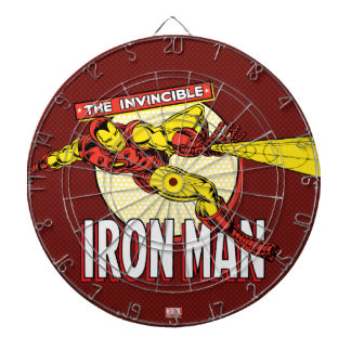 Iron Man Retro Character Graphic Dartboards