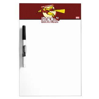 Iron Man Retro Character Graphic Dry Erase Boards