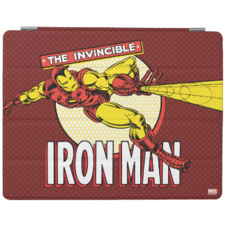 Iron Man Retro Character Graphic iPad Cover