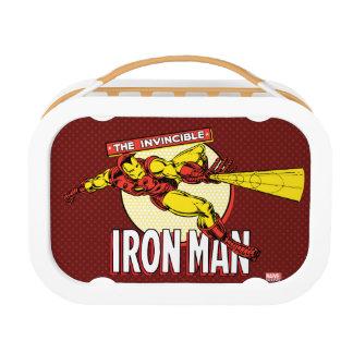 Iron Man Retro Character Graphic Lunch Box