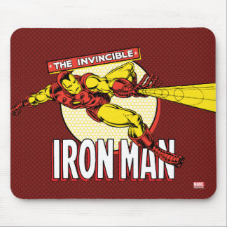 Iron Man Retro Character Graphic Mouse Pad