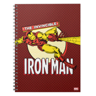 Iron Man Retro Character Graphic Spiral Notebook