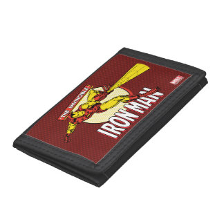 Iron Man Retro Character Graphic Trifold Wallet
