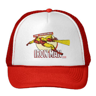 Iron Man Retro Character Graphic Trucker Hat