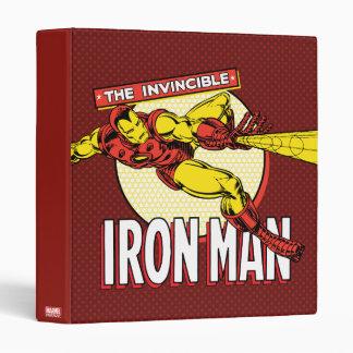 Iron Man Retro Character Graphic Vinyl Binders