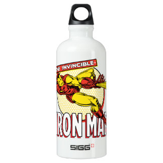 Iron Man Retro Character Graphic Water Bottle