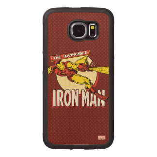 Iron Man Retro Character Graphic Wood Phone Case