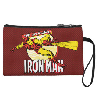 Iron Man Retro Character Graphic Wristlet Clutches