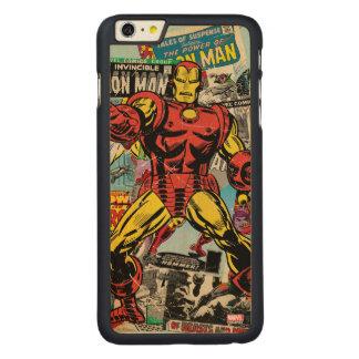Iron Man Retro Comic Collage Carved Maple iPhone 6 Plus Case