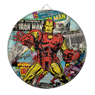 Iron Man Retro Comic Collage Dart Boards