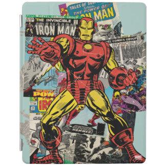 Iron Man Retro Comic Collage iPad Cover