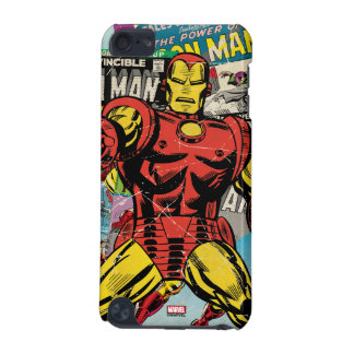 Iron Man Retro Comic Collage iPod Touch 5G Cases