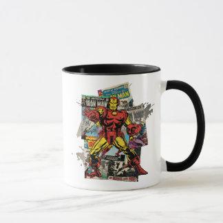 Iron Man Retro Comic Collage Mug