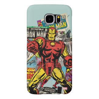 Iron Man Retro Comic Collage Samsung Galaxy S6 Cases