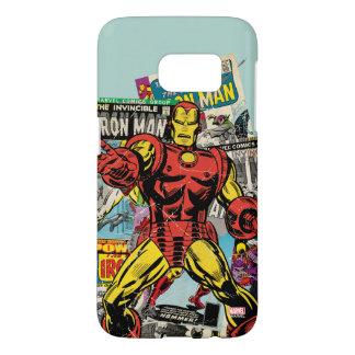 Iron Man Retro Comic Collage Samsung Galaxy S7 Case