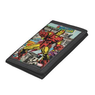 Iron Man Retro Comic Collage Tri-fold Wallets