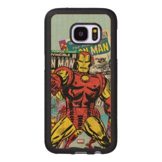 Iron Man Retro Comic Collage Wood Samsung Galaxy S7 Case