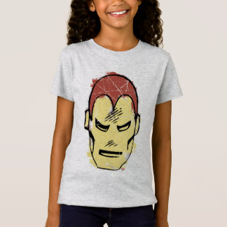 Iron Man Retro Comic Halftone Head T-Shirt