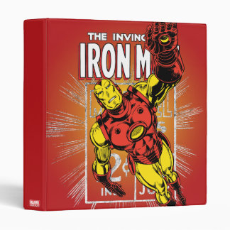 Iron Man Retro Comic Price Graphic 3 Ring Binder