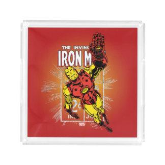 Iron Man Retro Comic Price Graphic Acrylic Tray