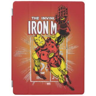 Iron Man Retro Comic Price Graphic iPad Cover