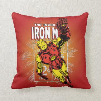 Iron Man Retro Comic Price Graphic Throw Pillow