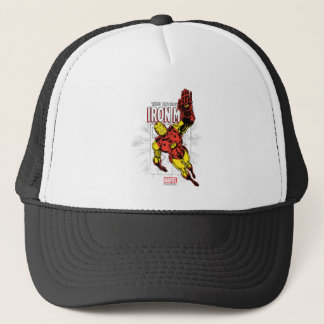 Iron Man Retro Comic Price Graphic Trucker Hat