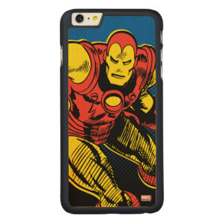 Iron Man Retro Flying Carved® Maple iPhone 6 Plus Case