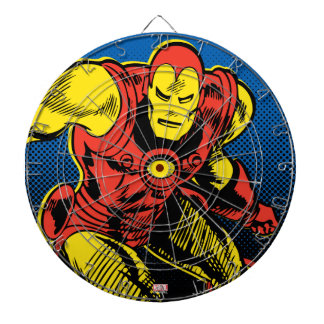 Iron Man Retro Flying Dartboard
