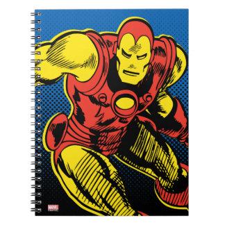 Iron Man Retro Flying Spiral Notebook