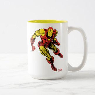 Iron Man Retro Flying Two-Tone Coffee Mug