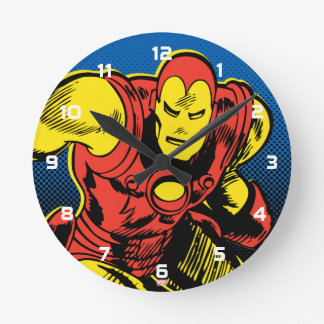 Iron Man Retro Flying Wallclock