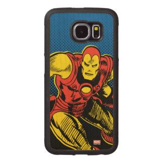 Iron Man Retro Flying Wood Phone Case
