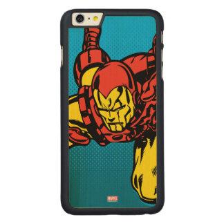 Iron Man Retro Grab Carved Maple iPhone 6 Plus Case