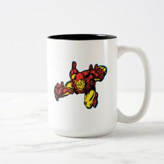 Iron Man Retro Grab Two-Tone Coffee Mug