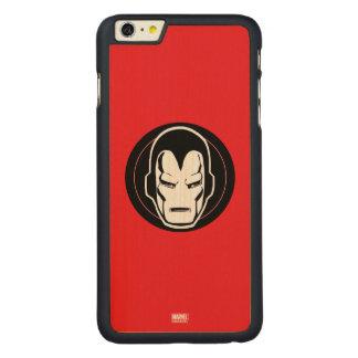Iron Man Retro Icon Carved Maple iPhone 6 Plus Case